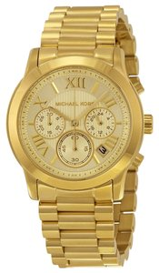 Michael Kors Gold tone Stainless Steel Classic Casual Designer Watch