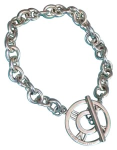 Tiffany & Co. Authentic Tiffany & Co. Sterling Silver Atlas Charm Link Bracelet 7.5