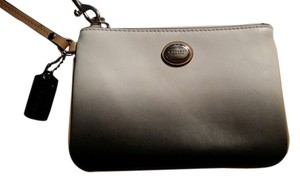 Coach Wristlet in Ombri white and black