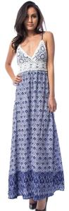 Blue Maxi Dress by Embroidered Maxi
