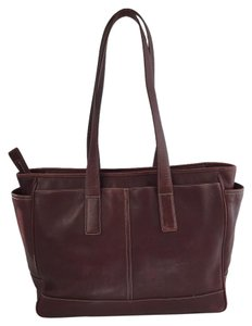 Coach Tote in Rust Red
