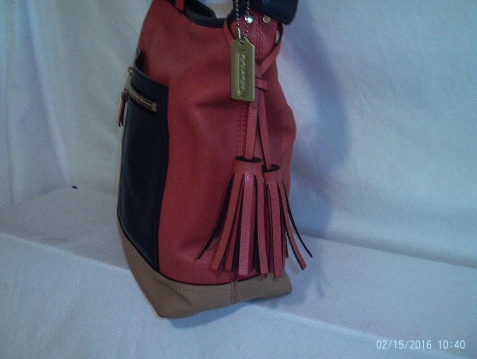 Coach Legacy Duffle Colorblock Navy Multi 19995 Red Blue Tan Leather  Shoulder Bag - Tradesy 2b3cf08a1a998