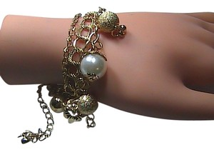 Unknown Fashion 14k Gold Filled Faux Pearl & ball Bracelet