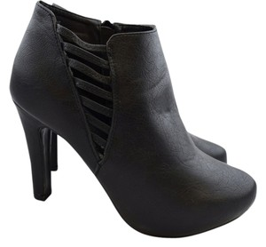 Forever 21 Bootie Cut-out Plus-size Black Boots