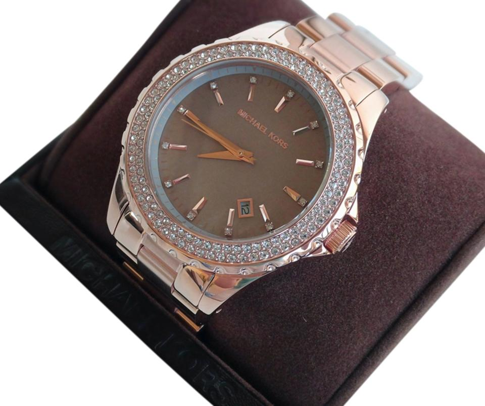 983b93c0b4cf Michael Kors Michael Kors MK5453 Runway Rose Gold Grey Mother of Pearl  Ladies Watch Image 0 ...