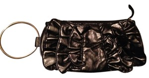 Unknown Ruffles Modern Black Clutch