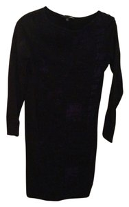 Tahari short dress Black With Purple on Tradesy