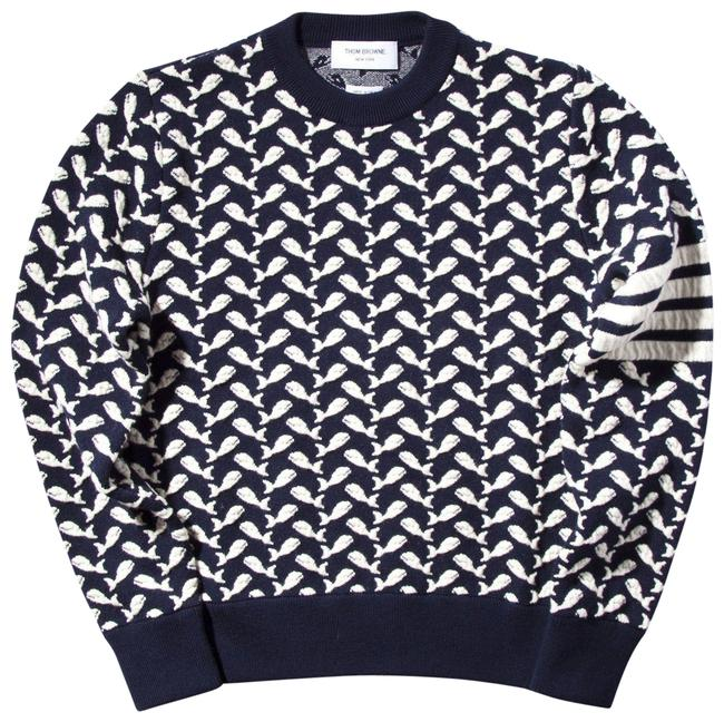 Item - Whale Jacquard Wool Blend Size 1 Navy Sweater