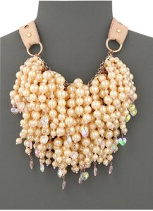 Betsey Johnson BETSEY JOHNSON PINKTINA LARGE PEARL MULTI STRAND ROSE GOLD necklace