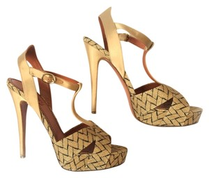 Missoni Gold/Black Pumps