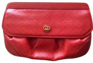 Gucci Red with beige interior Clutch