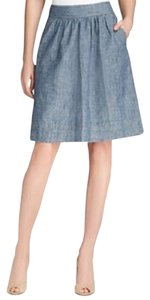 Eileen Fisher A-line Hemp Hemp Skirt DENIM