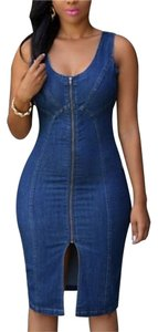 Denim Blue Maxi Dress by