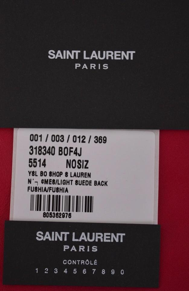 9d8bdb317f Saint Laurent New Ysl Reversible Shop Purse Shopper Pink Calf Leather and  Suede Tote - Tradesy