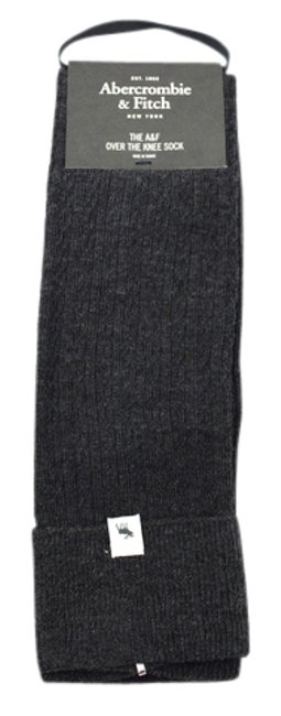 Item - Heathered Charcoal Over The Knee Mini Cable Boot Socks