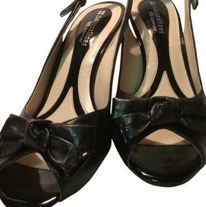 Naturalizer Comfortable Slingback Peep Toe Black Pumps