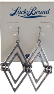 Lucky Brand Silver-Tone V-Shaped Drop Earrings