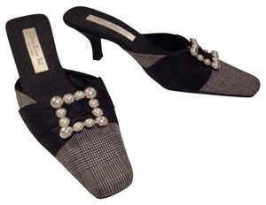 Olivia Rose Tal Black & White Mules