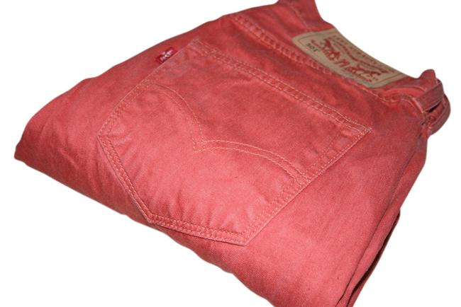 Item - Red Coated Straight Leg Jeans Size 29 (6, M)