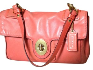 Coach Leather Silk Lining Shoulder Bag
