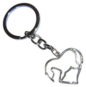 Other Silver Metal Horse in Heart Key Chain Key Ring Free Shipping
