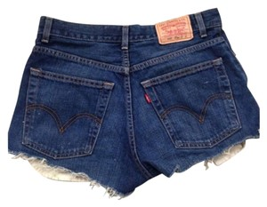 Levi's Cut Off Shorts Blue