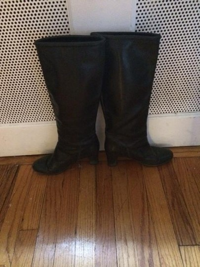 A.P.C. Leather Heel Black Boots