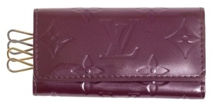 Louis Vuitton Louis Vuitton Monogram Vernis Purple Key Case Multicles 4