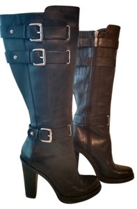 Guess By Marciano Buckle Leather black Boots