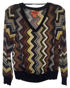 Missoni for Target Chevron Top Black, gold, and brown