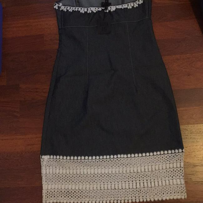 Anna Sui short dress Dark blue grey jeans with white on Tradesy Image 6