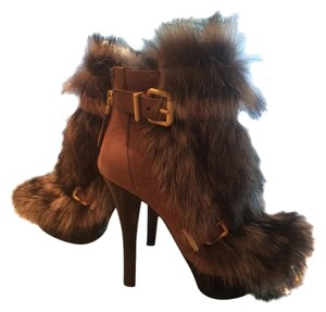 Fendi Fox Fur Boot Fur Brown Boot Tan/brown Boots