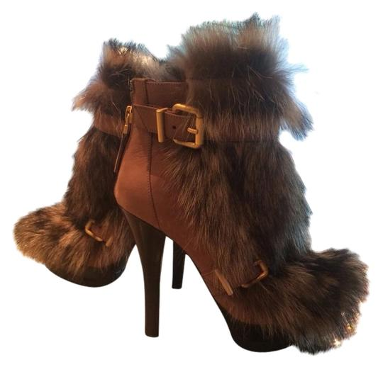 Fendi Fox Fur Tan/brown Boots