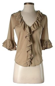 Free People Ruffle Top Tan