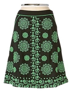 Anthropologie Lithe Cigarro Embroidered Skirt