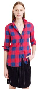 J.Crew Button Down Shirt Red and Navy buffalo flannel check