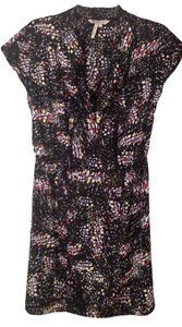 BCBG Max Azria short dress black with bold primary color pattern Spring on Tradesy