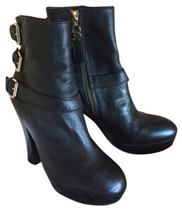 Juicy Couture Buckle Gold Hardware black Boots