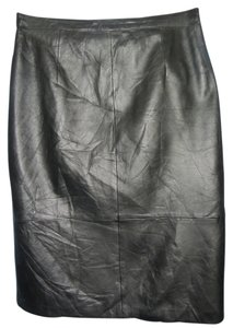 Talbots Leather Skirt black