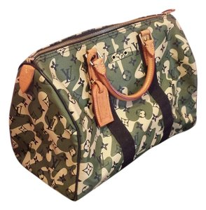 Louis Vuitton Satchel in Camo Green