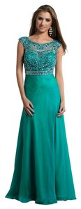 Dave & Johnny Prom Illusion Jeweled Dress