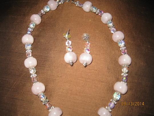 Tammy O. Pink Quartz Necklace and matching Earrings
