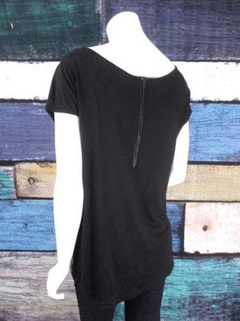Romeo & Juliet Couture Sequin Circle Embellished Shirt Top Black Image 3