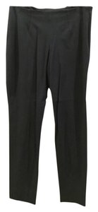Theory Hidden Side Zipper Ankle Skinny Pants Black