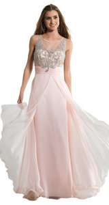 Prom Gown Long Illusion Dress