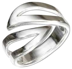 Other Sterling Silver Open Wave Bypass Ring
