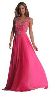 Dave & Johnny Illusion Prom Homecoming Beaded Dress