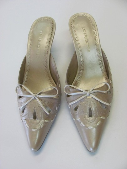 Liz Claiborne Size 7.00 M (Usa) Leather Very Good Condition Neutral Mules Image 1