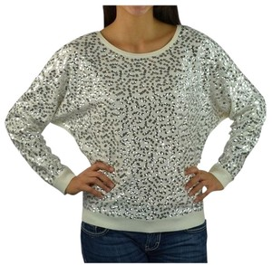 INC International Concepts Sequin Cream Sweater