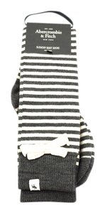 Abercrombie & Fitch Wool Blend Stripes with Knitted Bow Slouchy Boot Sock